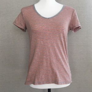 Toad&Co Striped V-Neck T-Shirt